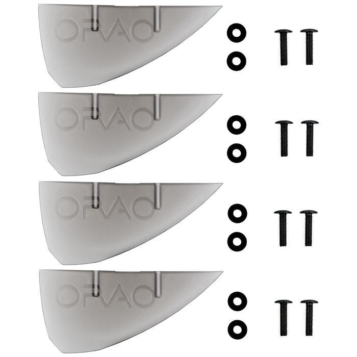 LOT de 4 AILERONS UNIVERSELS pour PLANCHE DE KITESURF type TWIN TIP