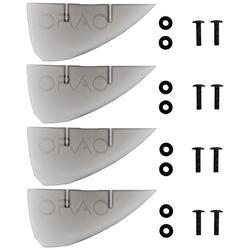 LOTE de 4 ALERONES UNIVERSALES para TWIN TIP