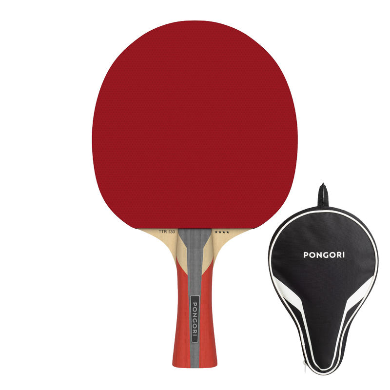 TTR 130 4* Spin Club and School Table Tennis Paddle + Cover