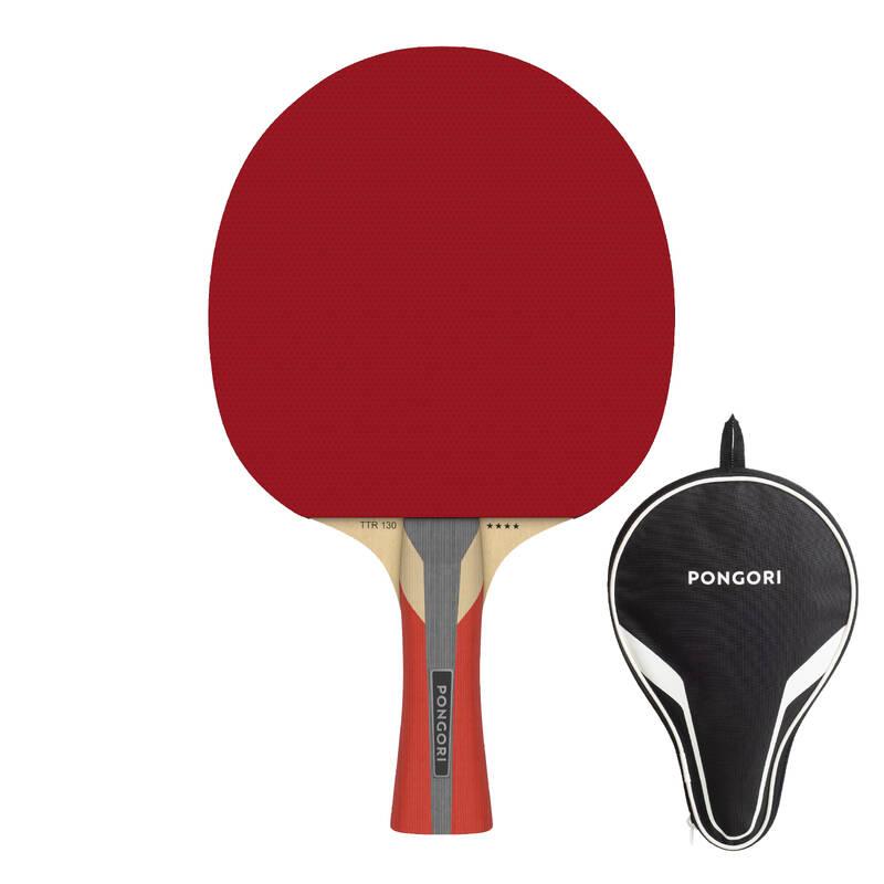 PÁLKY POKROČILÍ RAKETOVÉ SPORTY - PÁLKA TTR130 4* SPIN A POUZDRO PONGORI - Stolní tenis, ping pong