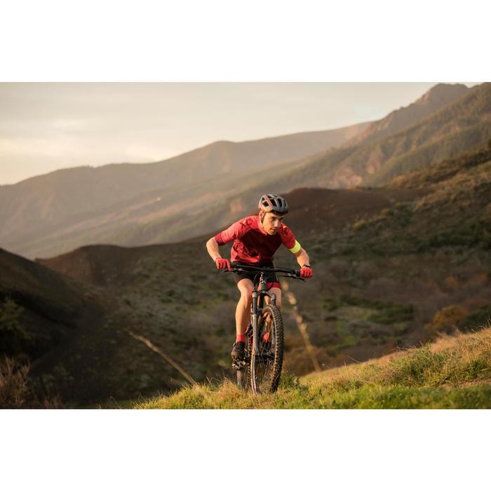 Fahrradtrikot XC 100 kurzarm MTB weinrot