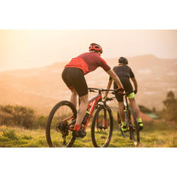 Fahrradtrikot kurzarm 100 XC weinrot