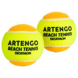 Pelotas Tenis Playa Artengo BTB 900 x2 Amarillo Naranja