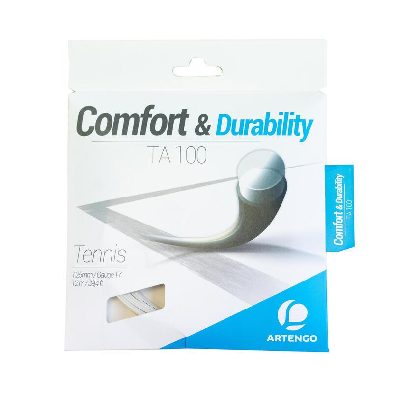 Corda tennis monofilamento TA 100 1,25mm bianca