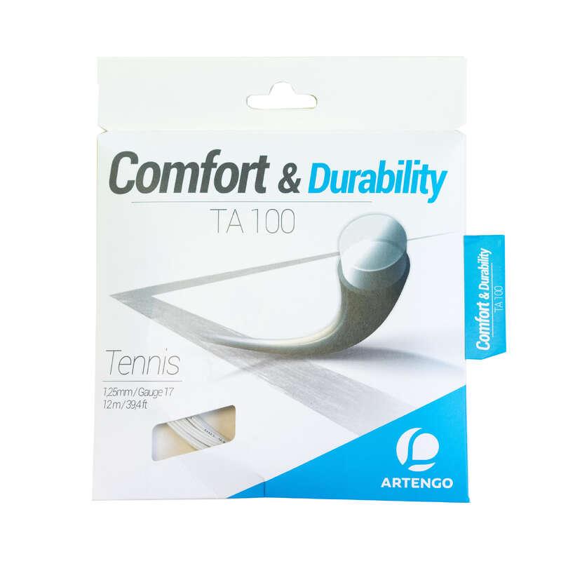 TENISZ HÚROK Tenisz - Teniszütő húr TA 100 1,25 mm ARTENGO - Tenisz felszerelés WHITE