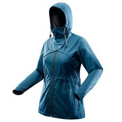 Chaqueta Impermeable Montaña y Senderismo Quechua NH500 Mujer Azul Turquesa