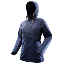 Waterdichte jas NH500 marineblauw heren
