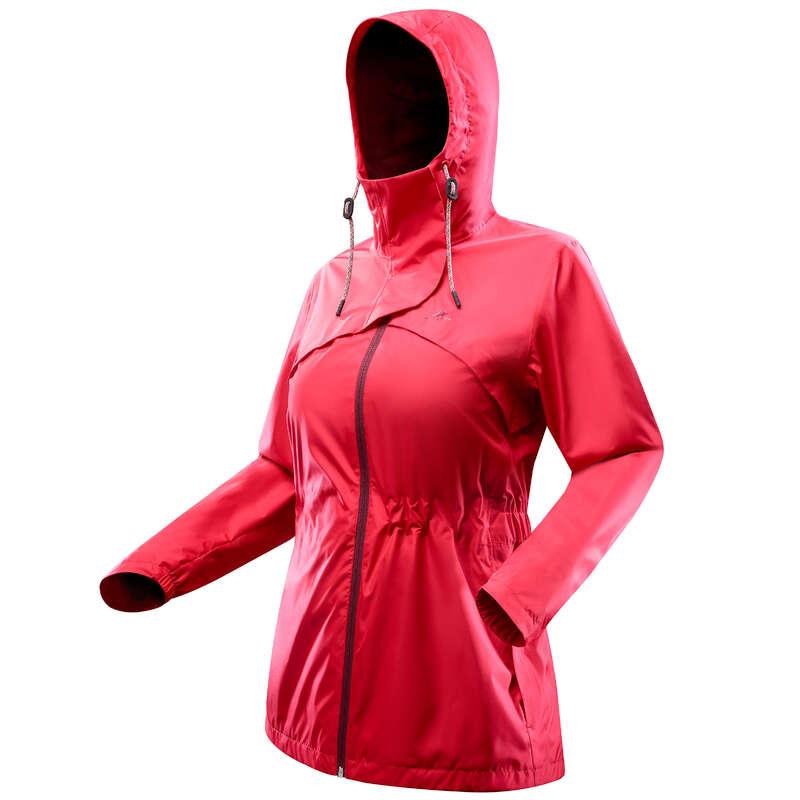 GIACCHE ESCURSIONE DONNA Sport di Montagna - Giacca donna NH500 IMPER rossa QUECHUA - Trekking donna