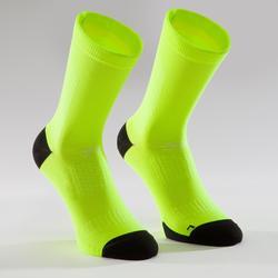 公路自行車襪900-螢光黃
