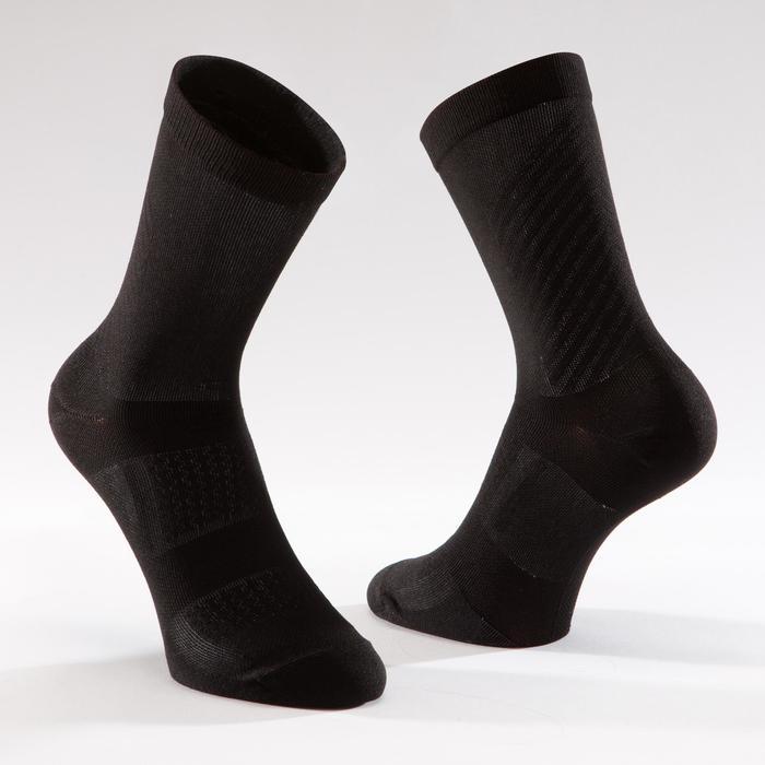 900 Road Sport Cycling Socks - Black/Grey
