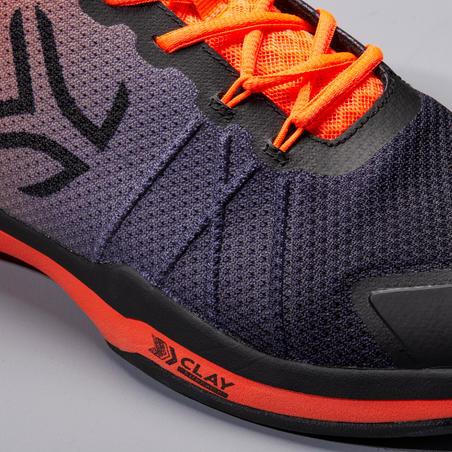 Men's Clay Court Tennis Shoes TS590 - Black/Orange