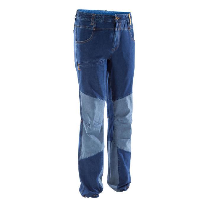 Technische klimjeans voor heren Rock II blauw grijs