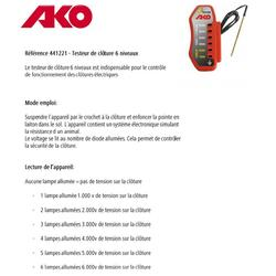 Comprobador de líneas para vallas equitación AKO 10 kV