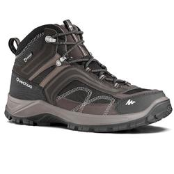 Men's mountain walking mid waterproof shoes MH100 – brown