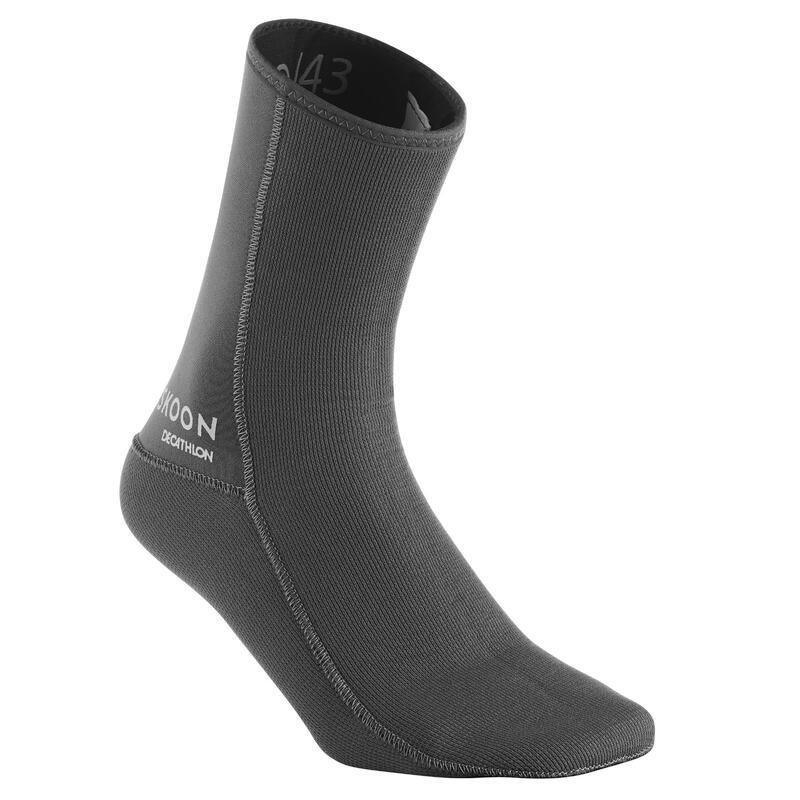 Sokken voor canyoning 3 mm uniseks grijs