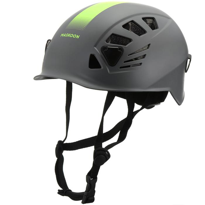 Canyoning helm grijs geel