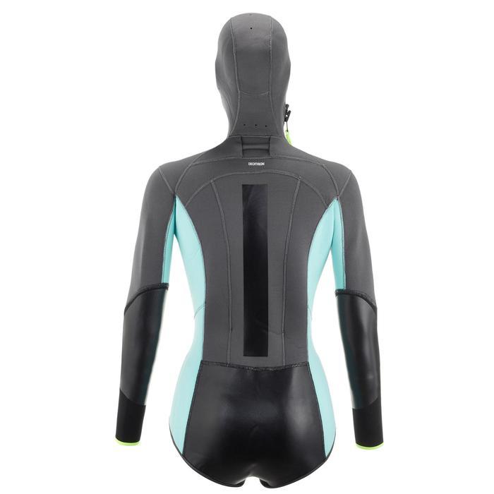Canyoning-Jacke Neoprenanzug 5mm Damen blau/grau