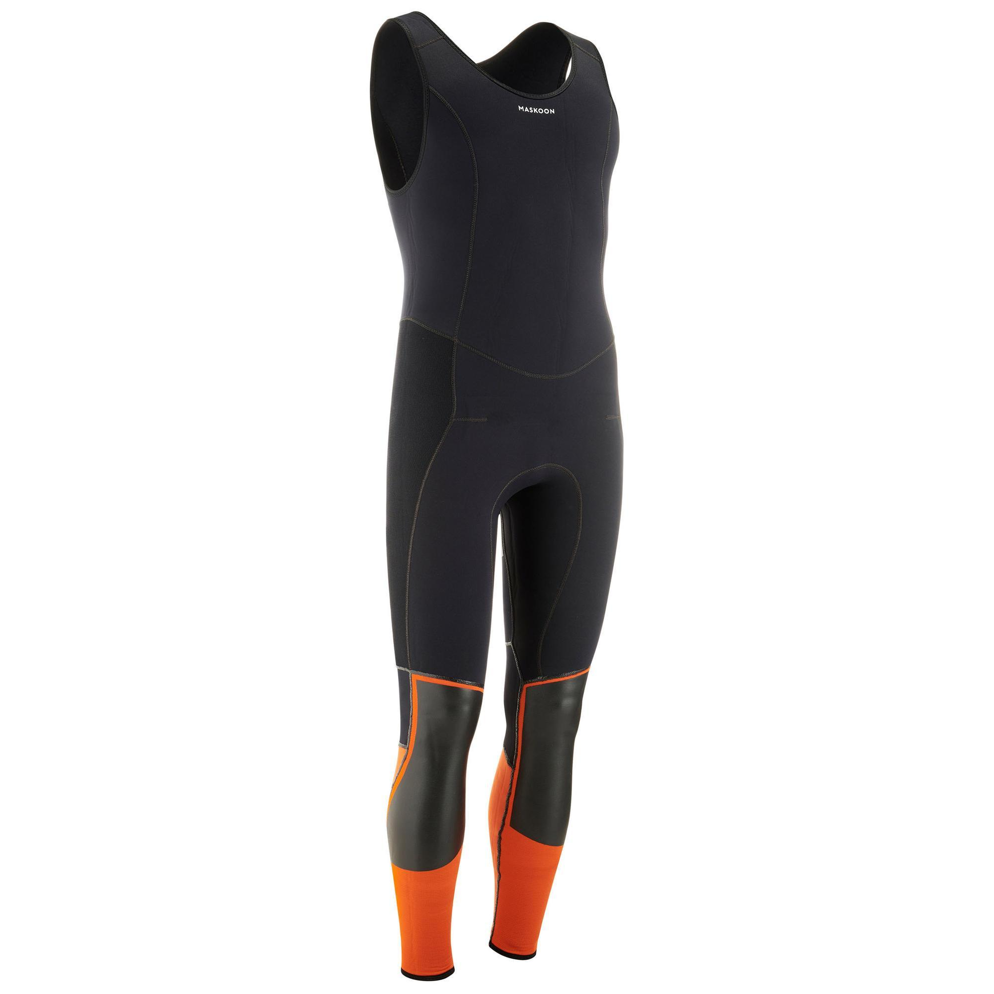 Long John Canyoning-Neoprenanzug 5 mm unisex | Sportbekleidung > Sportanzüge | Orange | Maskoon