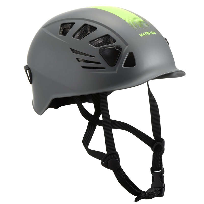 CANYONING GEAR Via ferrata Canyoning and Caving - CANYON HELMET GREY YELLOW MASKOON - Sports