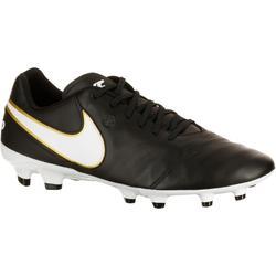 Chaussure football adulte Tiempo Genio FG noir blanc