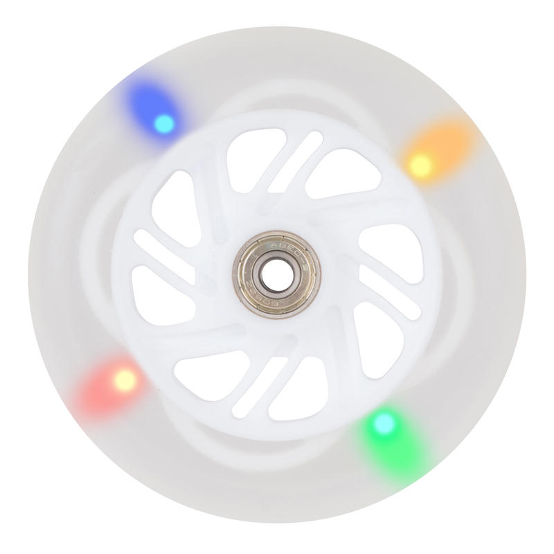 ROUE LUMINEUSE / FLASHING WHEEL BLANCHE 125mm.