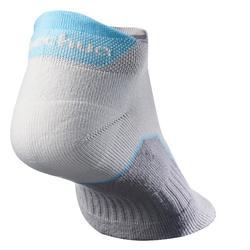 Sokken voor wandelen in de natuur NH500 low grijs 2 paar