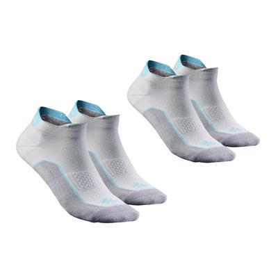 Nature walking socks - NH500 Low - X 2 pairs - grey