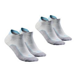 Calcetines de senderismo naturaleza NH500 Cortos gris x 2 pares