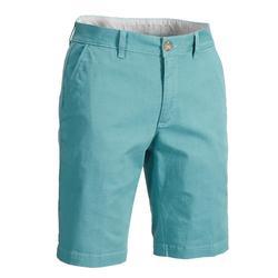Golfshort voor heren zacht weer blauw/grijs