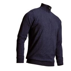 MOTTLED DARK BLUE MEN'S MILD WEATHER WINDPROOF GOLF PULLOVER