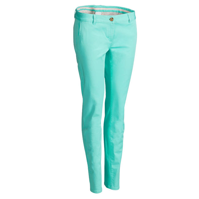Women's Golf Trousers - Turquoise Green