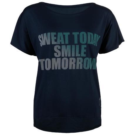 Blu T 120 Con Stampa Fitness Shirt Donna Cardio W2IEDY9H