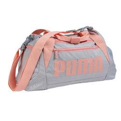 Bolsa de Deportes Gimnasio Cardio Fitness Puma Duffle 30 Litros gris rosa