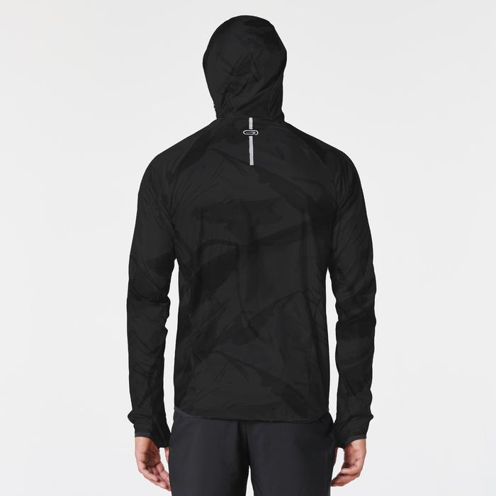 Lauf-Windjacke Trail Herren schwarz mit Muster