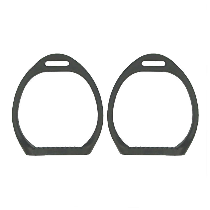 HORSE SADDLES ACCESSORIES Horse Riding - Pony Saddle Stirrup Iron Black COMPOSITI - Saddlery and Tack