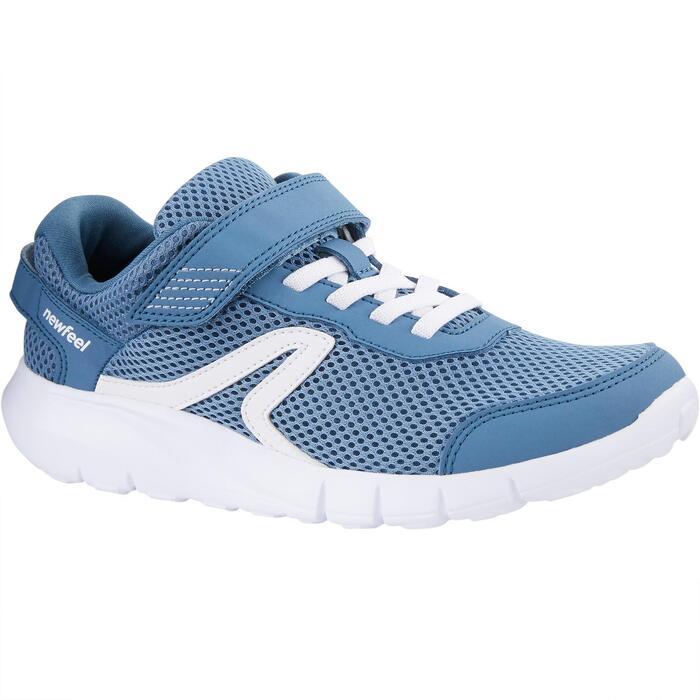 Zapatillas de Marcha Deportiva Newfeel Soft 140 Fresh niño azul y blanco