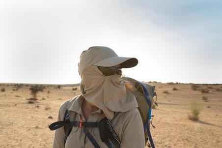 Gorra de Trekking en desierto DESERT 500 anti-UV café