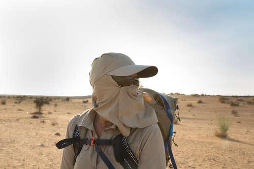 temperamentum cipő szép cipők széleskörű Túrasapka Desert 500, sivatagi túrázáshoz, UV-szűrő, barna FORCLAZ ...