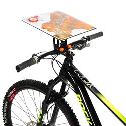 Rotating mountain bike orienteering and adventure race map holder