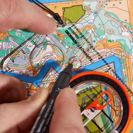Kompas pelat dasar explorer 500 untuk orienteering atau pendakian.