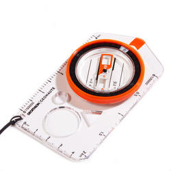 Explorer 500 baseplate compass for orienteering or hiking.