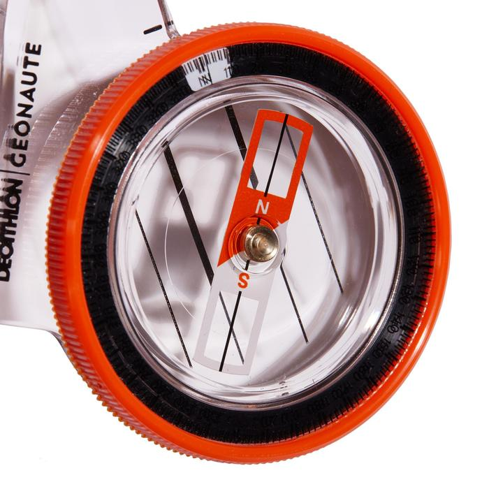 RACER 500 LEFT-THUMB COMPASS FOR ORIENTEERING - ORANGE