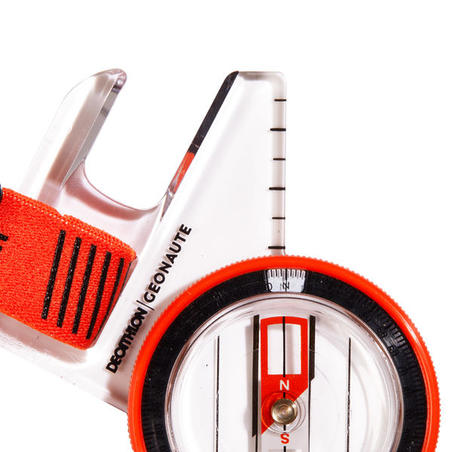 Orienteering Left-Thumb Compass Racer 500 - orange