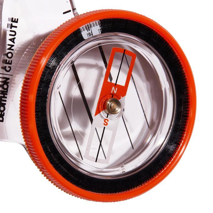 定向越野用右指指北針Racer 500-橘色