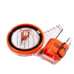 Duimkompas voor oriëntatieloop Racer 500 rechts zwart/oranje