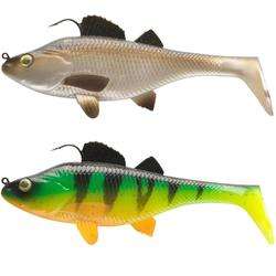 SEÑUELO FLEXIBLE SHAD PESCA CON SEÑUELO KIT PERCH 130 NATURAL / FIRETIGER