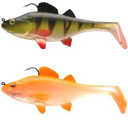 SEÑUELO FLEXIBLE SHAD PESCA CON SEÑUELO KIT PERCH RTC 70 PERCA / NARANJA