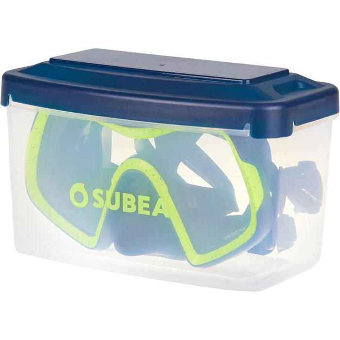 Masque de plongée sous marine SCD 500 mono-hublot verre jupe bleue