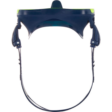 kaca M32ata selam lensa tunggal SCD 500 dengan skirt biru