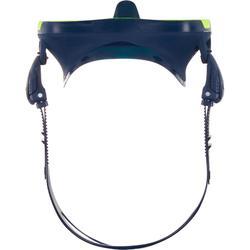 Tauchmaske SCD 500 Mono Einglas Maskenrand blau